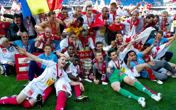 """Игроки """"Сьона"""" праздную победу в Кубке Швейцарии-2011"""