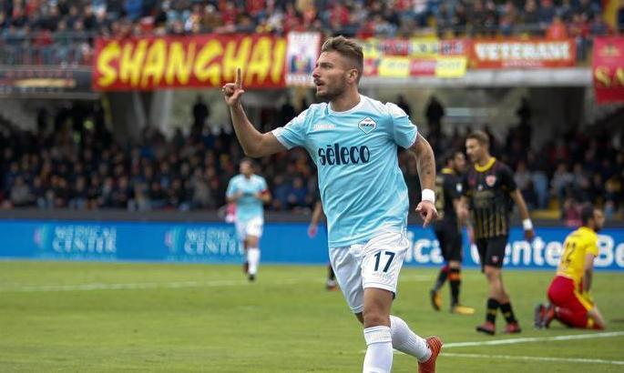 Рекордный гол Иммобиле помог «Лацио» разгромить «Беневенто» вчемпионате Италии пофутболу
